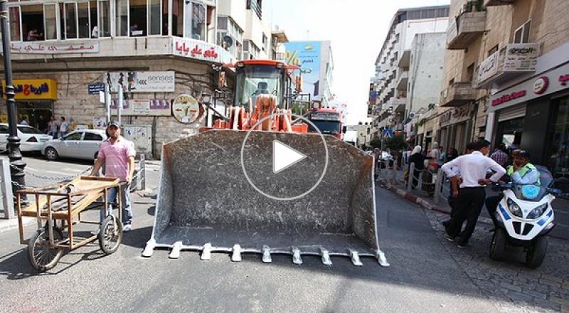 الشاحنات الفلسطينية تغلق شوارع رام الله وتواصل الاحتجاجات في مدن الضفة
